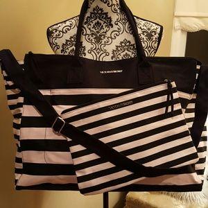 NWOT Victoria's Secret Large Tote and Bag